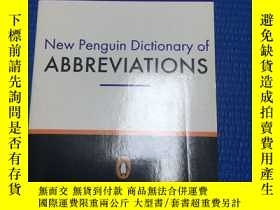 二手書博民逛書店New罕見Penguin Dictionary of Abbreviation 英語縮略語詞典,封面擠壓Y68