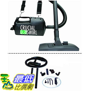 [106美國直購] Crucial Swirl Powerful Handheld Portable Vacuum Cleaner, Includes Deluxe Cleaning Attachments
