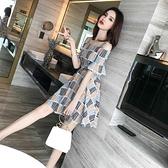一字领洋装 吊帶洋裝女神范夏季2021新款法式性感收腰顯瘦氣質超仙森系裙子
