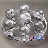 風水球 開光天然白水晶七星陣擺件白水晶球風水球有求必應家居開業禮品【快速出貨】