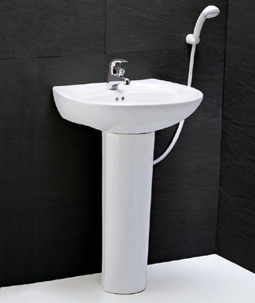 《修易生活館》 凱撒衛浴 CAESAR 面盆系列 面盆 L2220 S 瓷腳 P2437 (不含龍頭)