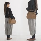 真皮側背包-復古牛皮百搭貝殼包女手提包73yq20【時尚巴黎】