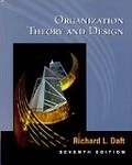 二手書博民逛書店《Organization Theory and Design》