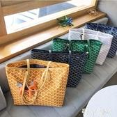 手提包包包女新款百搭韓國東大門狗牙包大容量購物袋側背手提拖特包聖誕交換禮物