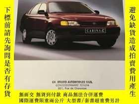 二手書博民逛書店1994年罕見TOYOTA CARINA E 豐田汽車 樣本Y2