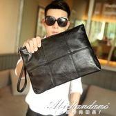 韓版男格子手拿包 文件包 時尚手包 商務休閒信封包 黛尼時尚精品