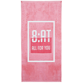 【8:AT 】棉絨印花大浴巾(亮彩粉)(未滿3件恕無法出貨,退貨需整筆退)