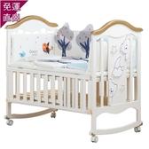 兒童床 bebivita兒童床實木歐式多功能白色寶寶bb床搖籃床新生兒拼接大床H【七夕節鉅惠】