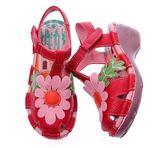 all new*PU底.熱帶風情/向日葵包覆款--THE ONE-氣墊鞋(全牛皮)K43301 紅