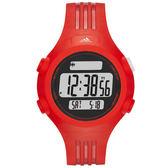 adidas 勁戰狙擊大面板電子腕錶-紅/小
