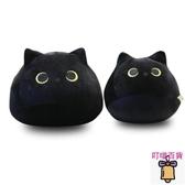 毛絨玩具可愛黑貓形抱枕公仔男孩布娃娃女生貓咪玩偶角落生物睡覺