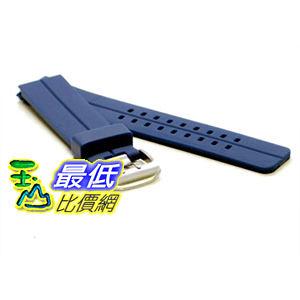 [美國直購 ShopUSA] NAVY BLUE 24mm Double Tang Modena Italian Rubber Dive Watch Band for Luminox, etc. $914