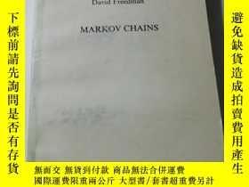 二手書博民逛書店MARKOV罕見CHAINS(馬爾可夫璉 英文版)Y6332 看圖 看圖 出版1983