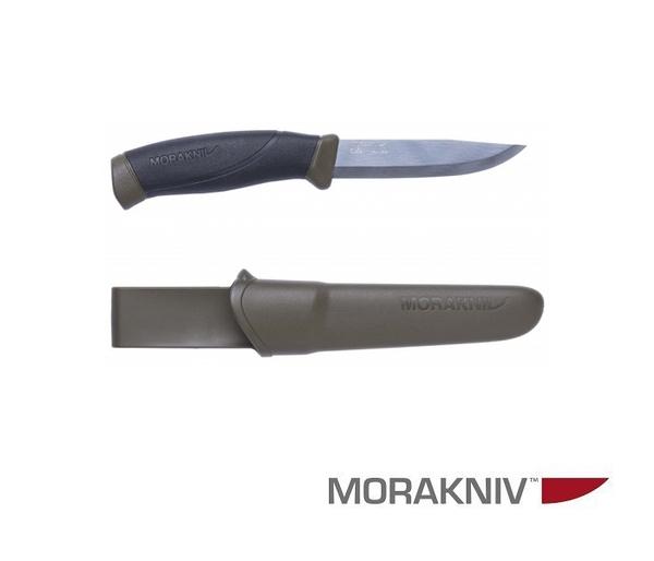丹大戶外用品【MORAKNIV】瑞典 COMPANION 不鏽鋼直刀 軍綠 11827