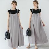 洋裝吊帶裙新款日韓氣質寬鬆吊帶連身裙外穿背心長裙GB108C-7766.胖胖唯依