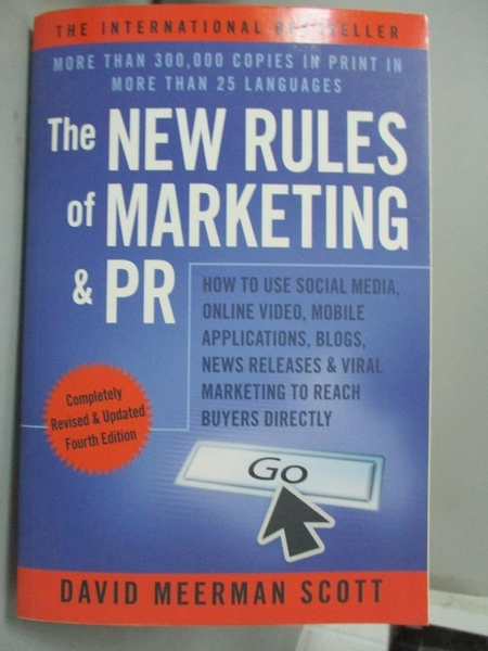 【書寶二手書T2/財經企管_YKF】The New Rules of Marketing & PR: How to Us