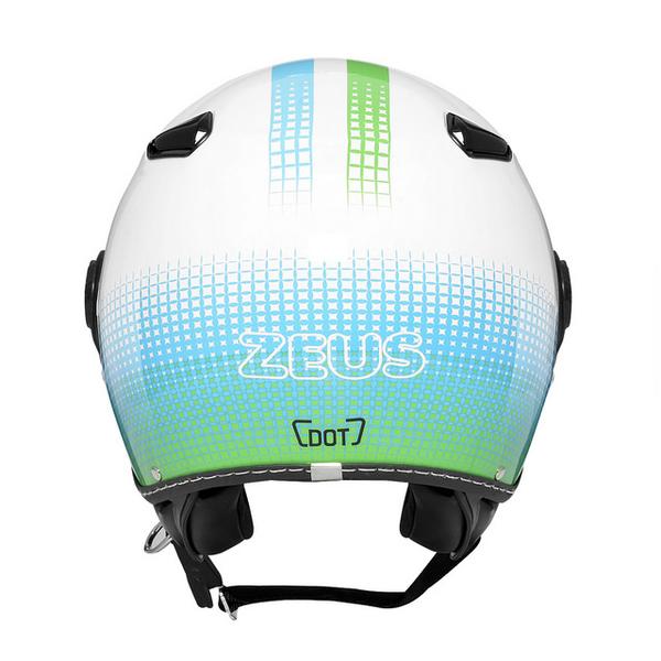 ZEUS 瑞獅安全帽,MOMO 飛行帽,210C,DD82/白綠