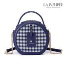 側背包 都會時尚千鳥紋小圓包 氣質藍-La Poupee樂芙比質感包飾 (現貨)