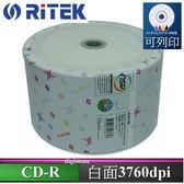 ◆下殺!!免運費◆錸德 Ritek  X 版 CD-R  白金片 52X 白色滿版可印片 50片裸裝X1