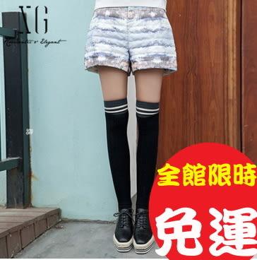 短褲毛短褲皮褲牛仔短褲西裝短褲高腰褲格子格紋彈力修身顯瘦1色100w100Brag Na義式精品