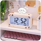 電子鬧鐘學生用智慧簡約小網紅女孩桌面兒童床頭時鐘ins起床神器 夢幻小鎮