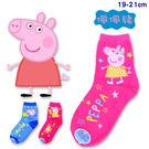 Peppa Pig 佩佩豬 台灣製造 童襪 短襪 長襪 襪子 MIT 19-21cm