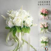 玫瑰新娘結婚手捧花仿真韓式伴娘影樓拍照道具 魔方數碼館
