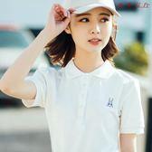 韓版短袖POLO衫女學院風小清新上衣