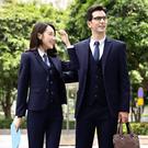 男女同款西服套裝~*艾美天后*~經典修身翻蓋口袋成熟穩重婚禮服面試正裝銀行工作
