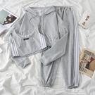 2021新款春秋韓版網紅洋氣時尚休閑運動服女小個子顯高穿搭套裝潮 易家樂