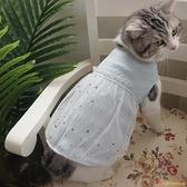 網紅寵物狗狗貓咪衣服冰藍仙仙公主裙背心透氣春夏薄款泰迪【小獅子】