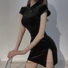 感性詞典:私房內衣性感復古旗袍夜店開叉制服裝誘惑挑逗小胸睡裙