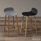 吧台椅 北歐ins靠背輕奢吧凳吧臺椅家用吧臺凳現代簡約高腳凳酒吧椅 快速出貨