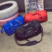 日韓復古字母印花手提包運動時尚健身單肩包男女旅行大容量斜背包 優家小鋪