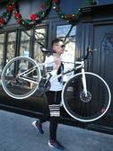變速死飛自行車男公路賽車單車雙碟剎實心胎細胎成人學生熒光 【免運】