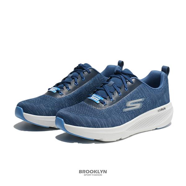 SKECHERS 慢跑鞋 GO RUN ELEVATE 藍白 雪花編織 運動 男 (布魯克林) 220187NVBL