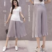 孕婦褲子夏季薄款2018新款外穿七分孕婦短褲女闊腿孕婦打底褲夏裝