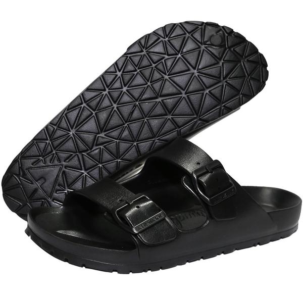 AIR WALK 男鞋 女鞋 拖鞋 休閒 可調整 防滑 防水 黑 【運動世界】 A755220120