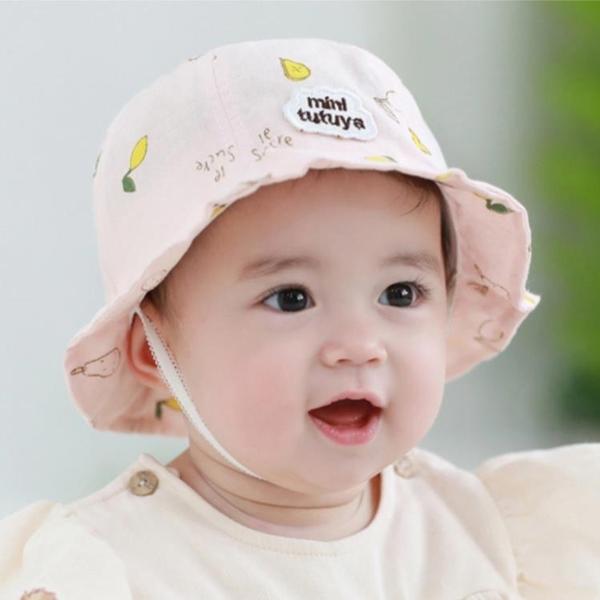 全館83折 嬰兒帽子純棉春夏0-3-6-12個月寶寶盆帽遮陽帽夏季防曬帽漁夫帽