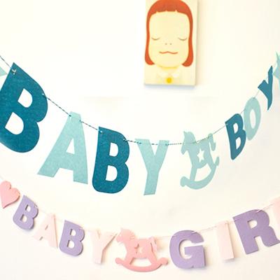BABY GIRL 女生 BOY 男生 木馬 拉條 場地布置 兒童房 活動派對 兒童派對 橘魔法Baby magic 現貨 PARTY
