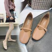 豆豆鞋    平底單鞋韓版復古舒適防滑懶人奶奶鞋搭扣女鞋