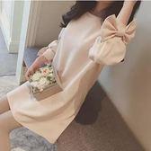 韓版寬鬆大碼中長款夏季七分袖孕婦上衣潮GZG638【每日三C】