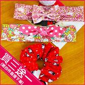《最後1個》Hello Kitty 凱蒂貓 雪紡髮圈 髮帶 大腸圈 甜美 可愛 髮飾 E01051