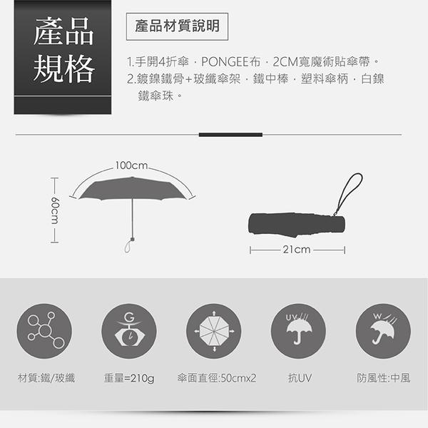 【德國boy】抗UV四折時尚便攜迷你口袋傘(經典海軍藍)