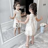 女童旗袍裙子夏裝漢服中國風小女孩公主裙洋氣2019新款兒童洋裝 嬌糖小屋