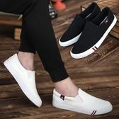 男士帆布鞋韓版潮流學生男鞋夏季板鞋百搭布鞋一腳蹬懶人休閒鞋潮