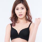 思薇爾-深V誘惑系列B-E罩蕾絲包覆內衣(黑色)