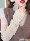 蕾絲打底衫 高領網紗打底衫女毛衣內搭洋氣秋冬新款百搭氣質長袖蕾絲上衣 智慧e家 新品