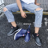 男士雨鞋短筒低幫廚房工作膠鞋防滑防水鞋男洗車水靴釣魚雨靴 瑪奇哈朵