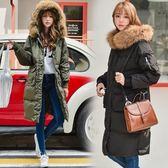 羽絨夾克-長版流行時尚百搭女外套2色73it81[時尚巴黎]
